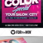 Hair Salon Flyer Template Design