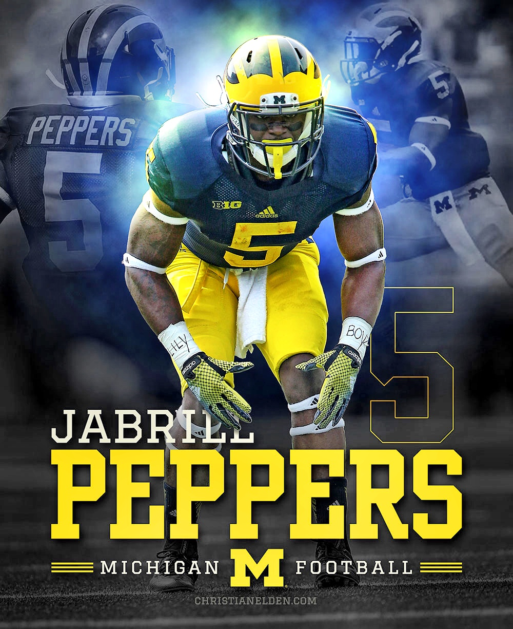 Jabrill Peppers Photoshop Design | christianelden.com